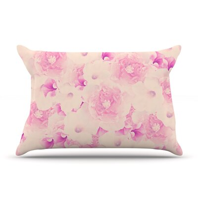 Blush Bouquet by Deepti Munshaw Featherweight Pillow Sham Size: King, Fabric: Woven Polyester