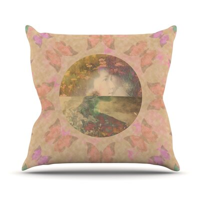 Rebirth by Deepti Munshaw Butterfly Throw Pillow Size: 16 H x 16 W x 1 D