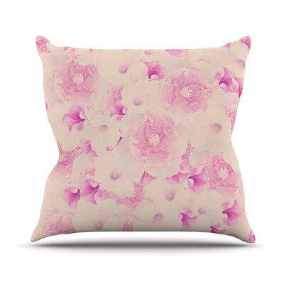 Blush Bouquet by Deepti Munshaw Roses Throw Pillow Size: 26 H x 26 W x 1 D