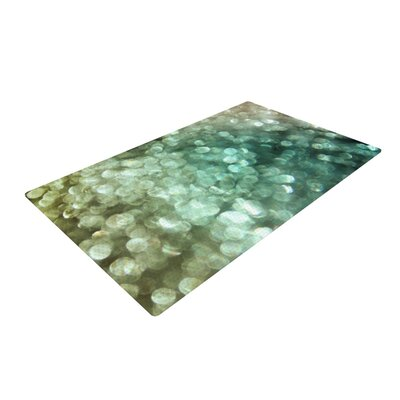 Debbra Obertanec Teal Sparkle Glitter Green Area Rug Rug Size: 4 x 6
