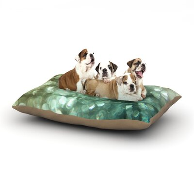 Debbra Obertanec Teal Sparkle Glitter Dog Pillow with Fleece Cozy Top Size: Large (50 W x 40 D x 8 H)