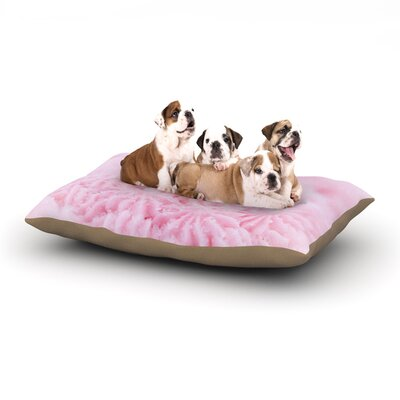 Debbra Obertanec Cupcake Pink Sparkle Dog Pillow with Fleece Cozy Top Size: Large (50 W x 40 D x 8 H)