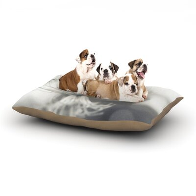 Debbra Obertanec Queen Flower Dog Pillow with Fleece Cozy Top Size: Large (50 W x 40 D x 8 H)