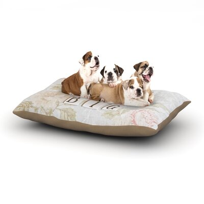 Debbra Obertanec Dream Big Quote Floral Dog Pillow with Fleece Cozy Top Size: Small (40 W x 30 D x 8 H)
