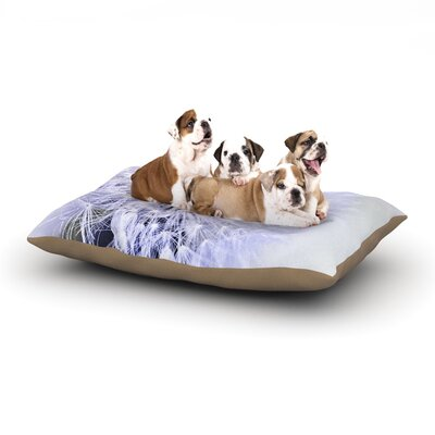 Debbra Obertanec Lavender Wish Flower Dog Pillow with Fleece Cozy Top Size: Small (40 W x 30 D x 8 H)