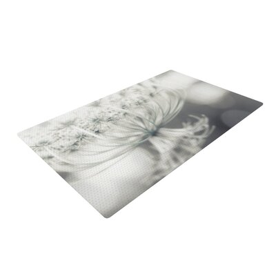 Debbra Obertanec Queen Flower White Area Rug Rug Size: 4 x 6