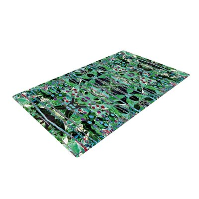 Danii Pollehn Grun Abstract Green Area Rug Rug Size: 4 x 6
