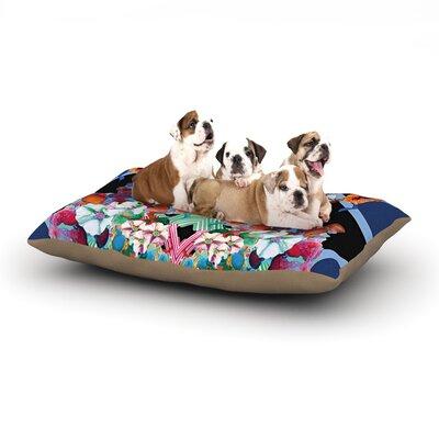 Danii Pollehn Herz Floral Dog Pillow with Fleece Cozy Top Size: Small (40 W x 30 D x 8 H)