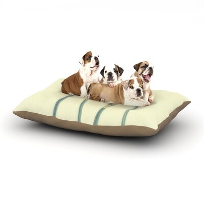 Debbra Obertanec Springtime Yellow Tulip Dog Pillow with Fleece Cozy Top Size: Small (40 W x 30 D x 8 H)