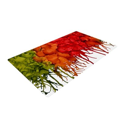 Claire Day Fall Splatter Red/Orange Area Rug Rug Size: 4 x 6