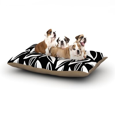 Emine Ortega Leaving Dog Pillow with Fleece Cozy Top Size: Large (50 W x 40 D x 8 H), Color: Black/White