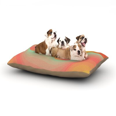 Akwaflorell Way of the Waves Dog Pillow with Fleece Cozy Top Size: Large (50 W x 40 D x 8 H)