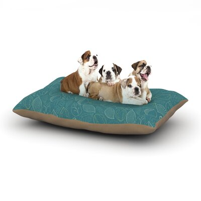 Emma Frances Autumn Leaves Dog Pillow with Fleece Cozy Top Size: Large (50 W x 40 D x 8 H)