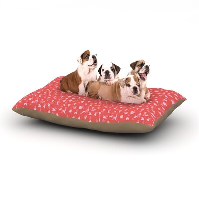 Emma Frances Love Confetti Dog Pillow with Fleece Cozy Top Size: Small (40 W x 30 D x 8 H)