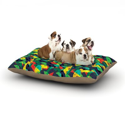 Akwaflorell Fruit and Fun Dog Pillow with Fleece Cozy Top Size: Small (40 W x 30 D x 8 H)