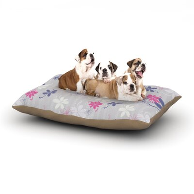 Emma Frances Lively Blossoms Dog Pillow with Fleece Cozy Top Size: Small (40 W x 30 D x 8 H)