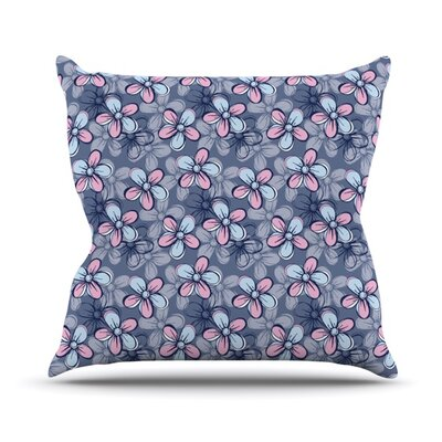 Flower Clusters by Emma Frances Throw Pillow Size: 26 H x 26 W x 1 D