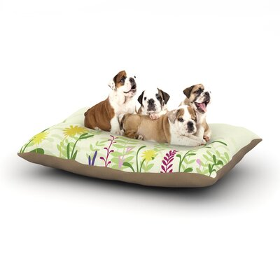 Emma Frances Springtime Dog Pillow with Fleece Cozy Top Size: Large (50 W x 40 D x 8 H)