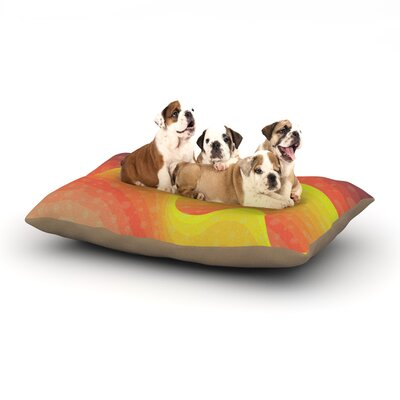 Akwaflorell Waves Waves Dog Pillow with Fleece Cozy Top Size: Large (50 W x 40 D x 8 H)