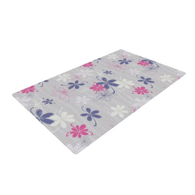 Emma Frances Lively Blossoms Gray Area Rug Rug Size: 2 x 3