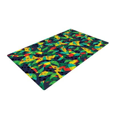 Akwaflorell Fruit and Fun Blue/Green Area Rug Rug Size: 2 x 3