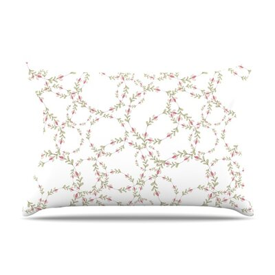 Evergreen Wreaths by Emma Frances Featherweight Pillow Sham Size: Queen, Fabric: Woven Polyester
