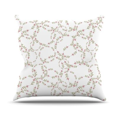 Evergreen Wreaths Throw Pillow Size: 18 H x 18 W x 1 D