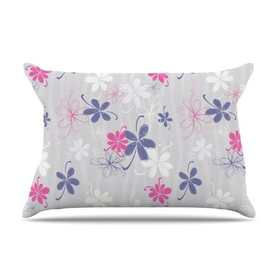 Lively Blossoms by Emma Frances Featherweight Pillow Sham Size: Queen, Fabric: Woven Polyester