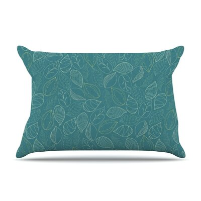Autumn Leaves by Emma Frances Featherweight Pillow Sham Size: King, Fabric: Woven Polyester