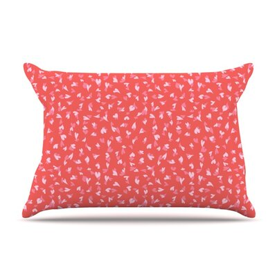 Love Confetti by Emma Frances Featherweight Pillow Sham Size: Queen, Fabric: Woven Polyester