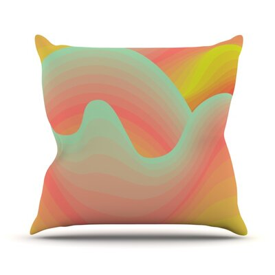 Way of the Waves Blossom Bird Throw Pillow Size: 26 H x 26 W