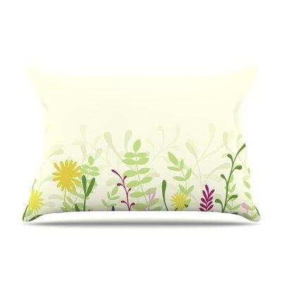 Springtime by Emma Frances Featherweight Pillow Sham Size: King, Fabric: Woven Polyester