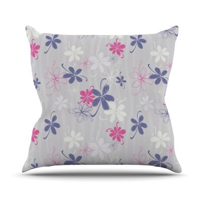 Lively Blossoms by Emma Frances Throw Pillow Size: 18 H x 18 W x 1 D