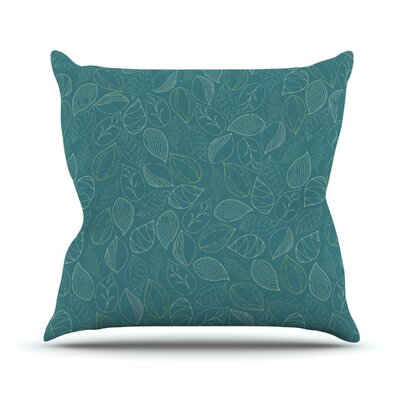 Autumn Leaves by Emma Frances Throw Pillow Size: 18 H x 18 W x 1 D