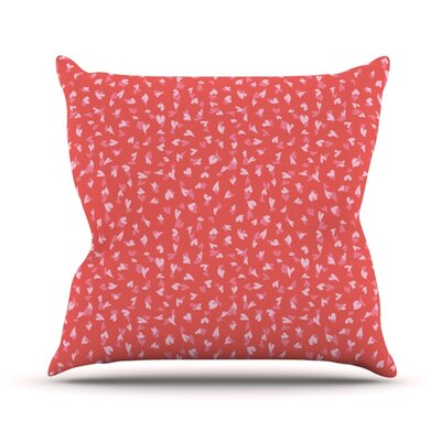 Love Confetti by Emma Frances Throw Pillow Size: 18 H x 18 W x 1 D