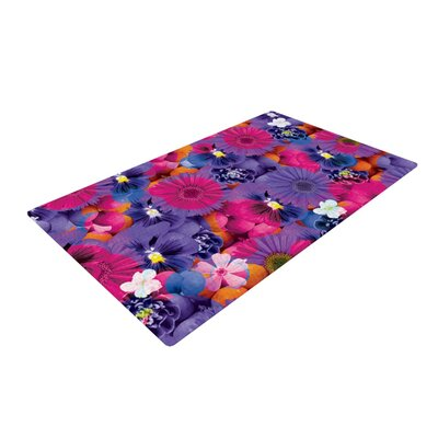 Akwaflorell Find The Tiger Purple/Pink Area Rug Rug Size: 2 x 3