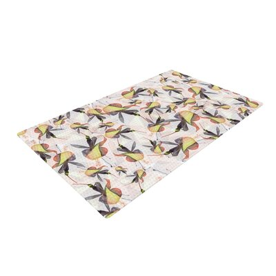 Akwaflorell Fuchsia on The Wind Yellow Area Rug Rug Size: 2 x 3