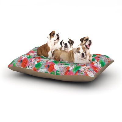 Akwaflorell Flying Tulips Dog Pillow with Fleece Cozy Top Size: Small (40 W x 30 D x 8 H)