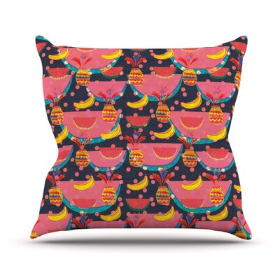 Yummy by Akwaflorell Throw Pillow Size: 26 H x 26 W x 1 D