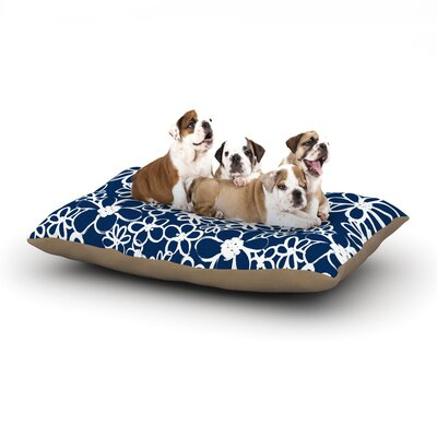 Emine Ortega Daisy Lane Dog Pillow with Fleece Cozy Top Size: Large (50 W x 40 D x 8 H)
