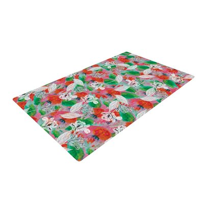 Akwaflorell Flying Tulips Red/Green Area Rug Rug Size: 4 x 6