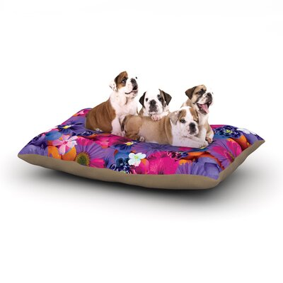Akwaflorell Find the Tiger Dog Pillow with Fleece Cozy Top Size: Large (50 W x 40 D x 8 H)