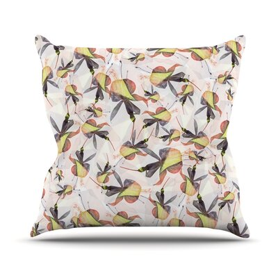 Fuchsia on the Wind by Akwaflorell Throw Pillow Size: 16 H x 16 W x 1 D