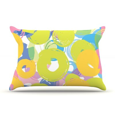 Circle Me by Emine Ortega Featherweight Pillow Sham Size: King, Fabric: Woven Polyester