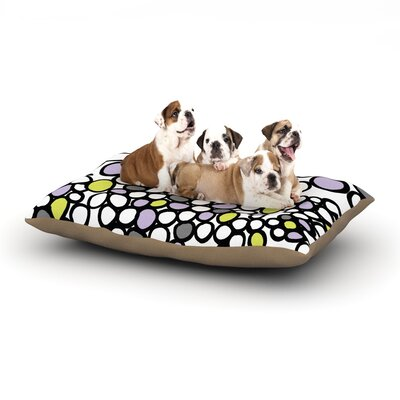 Emine Ortega Pebbles Dog Pillow with Fleece Cozy Top Size: Small (40 W x 30 D x 8 H), Color: Lilac