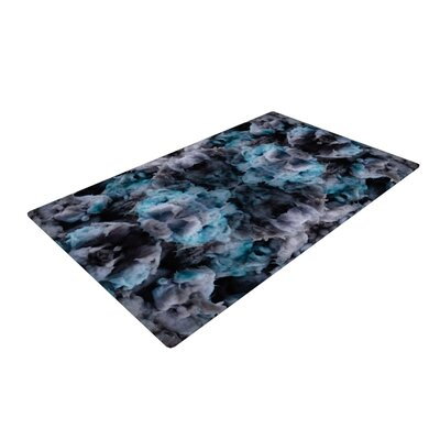 Akwaflorell Abyss Blue/Black Area Rug Rug Size: 4 x 6