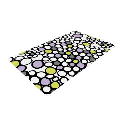 Emine Ortega Pebbles Black/White Area Rug Rug Size: 2 x 3