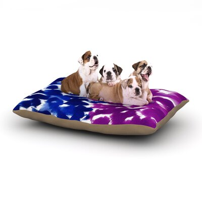Emine Ortega Fleeting Dog Pillow with Fleece Cozy Top Size: Small (40 W x 30 D x 8 H), Color: Blue