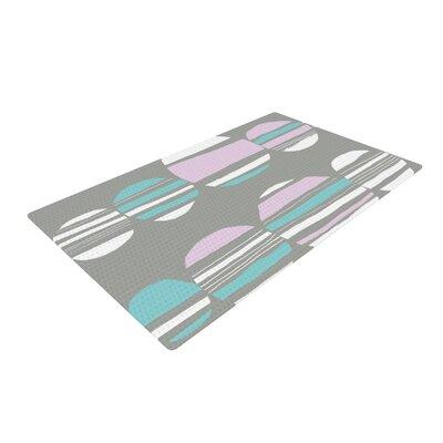 Emine Ortega Retro Circles Pastel/Gray Area Rug Rug Size: 2 x 3