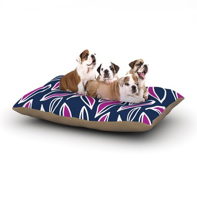 Emine Ortega Leaving Dog Pillow with Fleece Cozy Top Size: Large (50 W x 40 D x 8 H), Color: Magenta